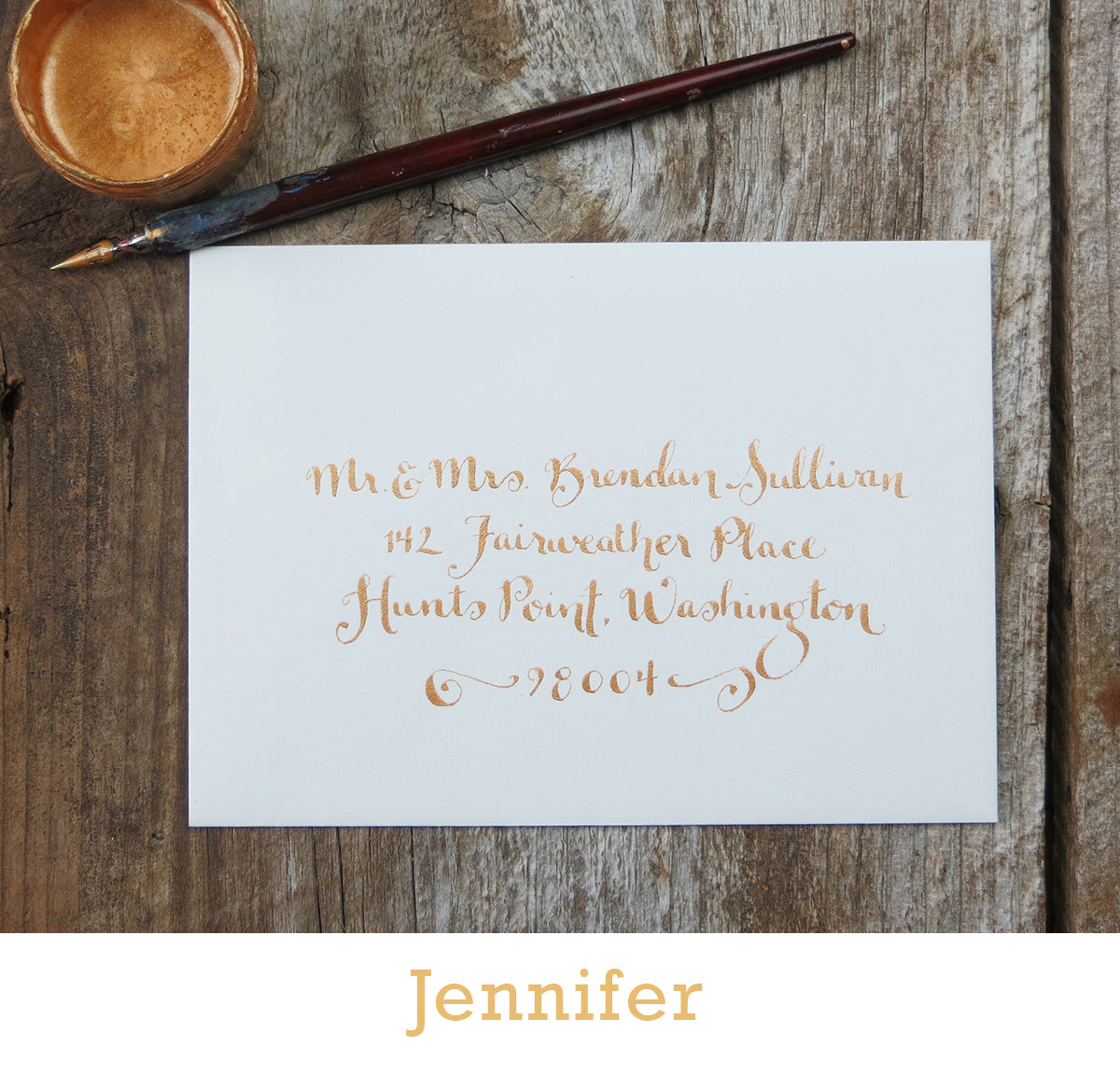 Jennifer calligraphy El's Cards