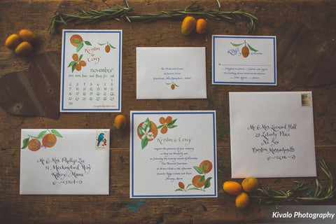oranges invitation suite