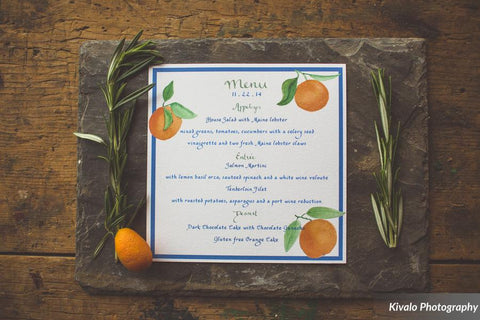 rustic orange menu