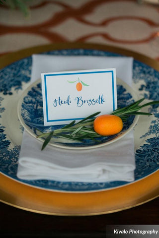 orange escort card