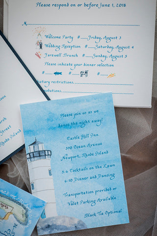 lighthouse reply card