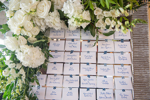 calligraphy on escort cards