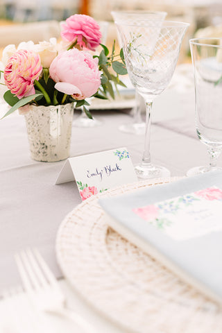 Menu with flowers