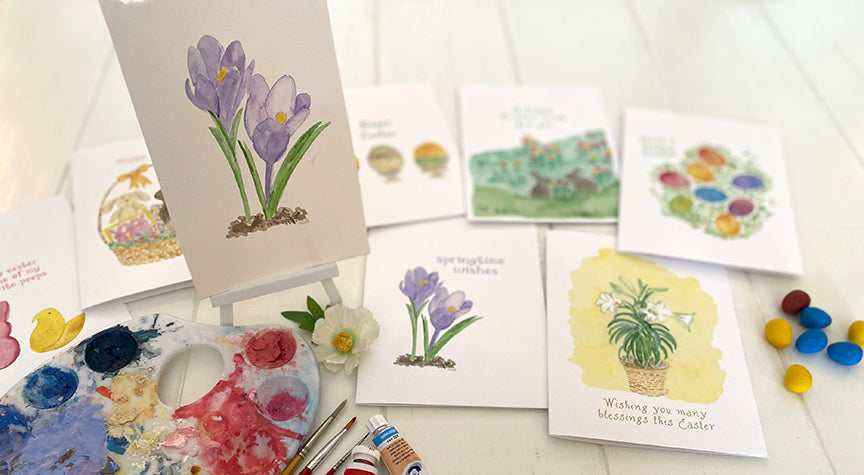Crocus painting and cards