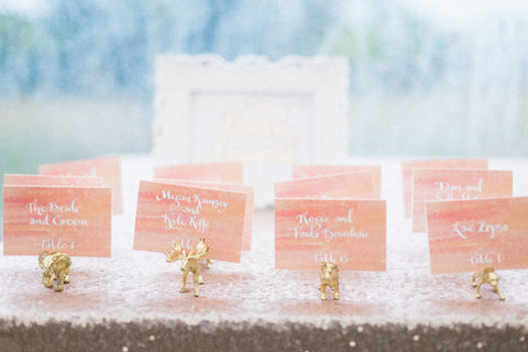 sunset escort cards