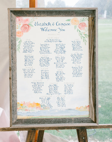 hand painted seating chart