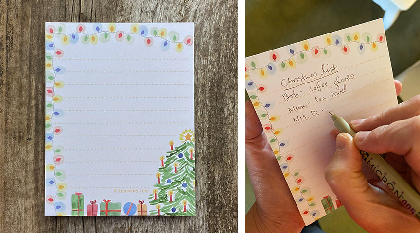 Christmas note pad