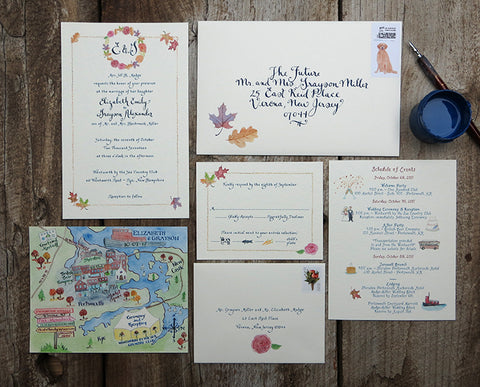 custom invitation with map