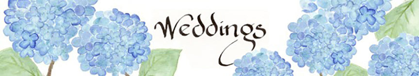 Weddings header with hydrangeas