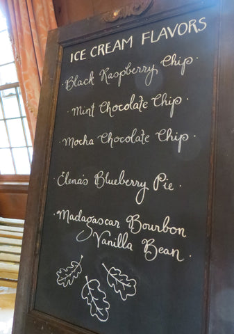 dessert ice cream sign