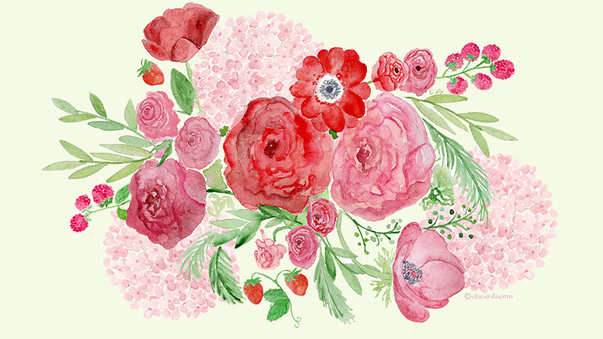 floral watercolor wallpaper giveaway