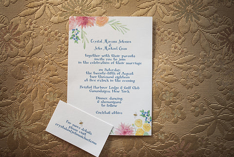 invitation on yellow background