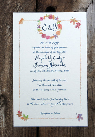 custom watercolor invitation