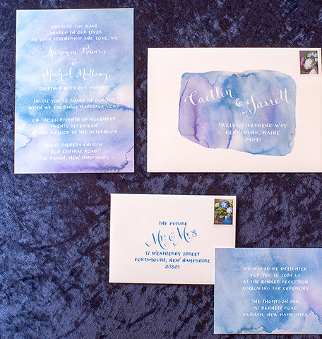 indigo wash invite