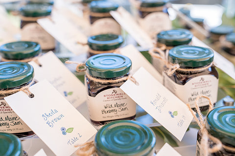 Escort gift tags blueberry
