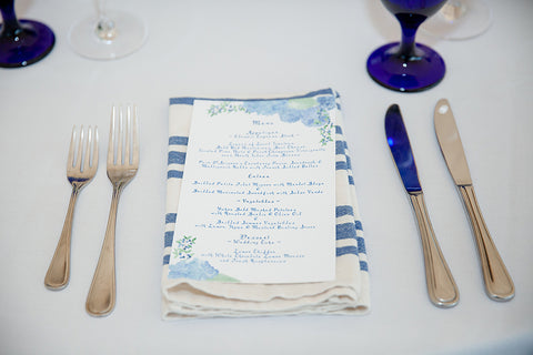 Martha's Vineyard wedding menu