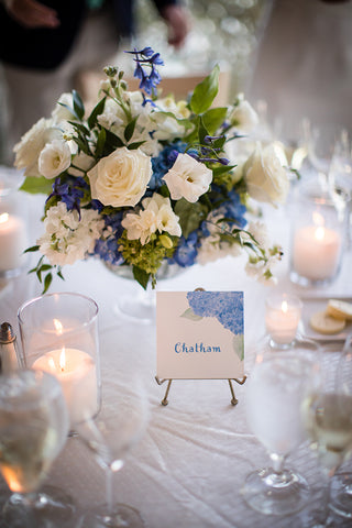 Hydrangea table sign