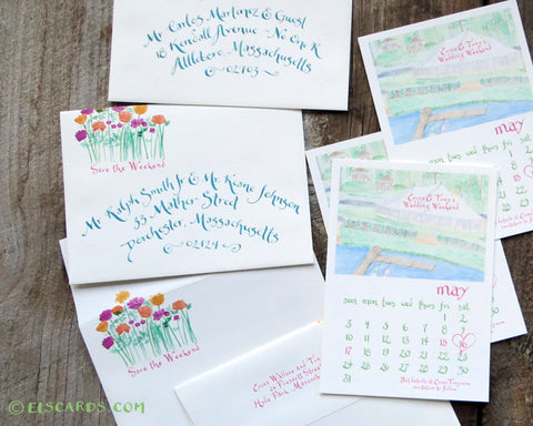 save the date with envelope