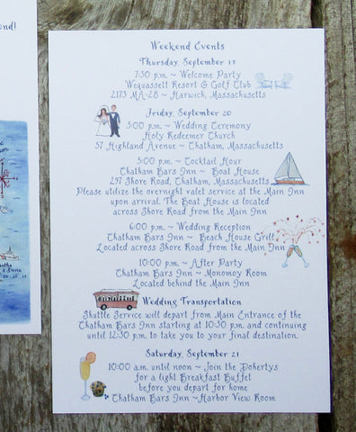 Schedule of events for wedding