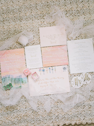 custom pink invitation