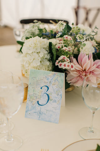 watercolor table sign
