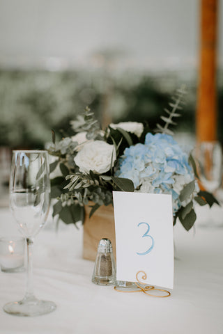 table number Cape Cod wedding