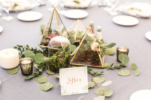 Greenery Table number