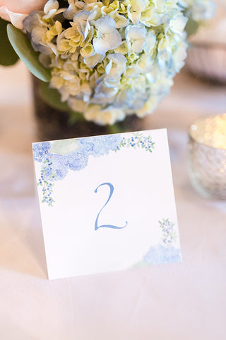 hydrangea table number