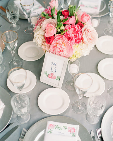 peony table number