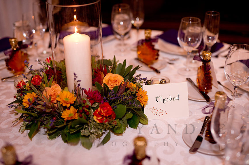 trees table names for wedding reception