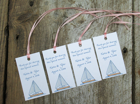 Favor tags with sailboats