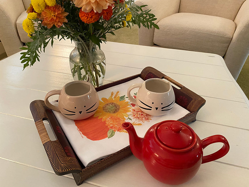 Autumn Centerpiece tea towel