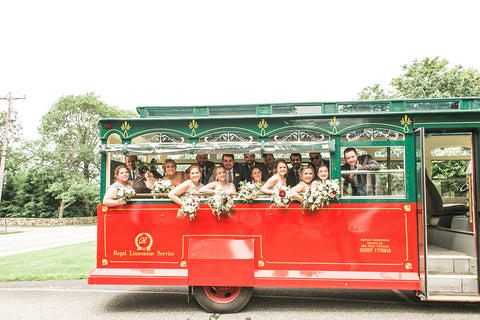 Trolley with bridal party