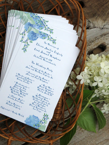 hydrangea wedding day accents