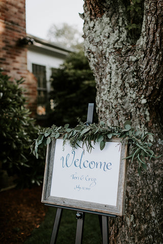 Wedding Day Welcome sign