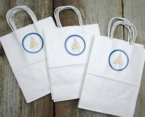 Welcome Bags with custom sticker