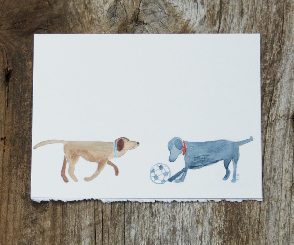 2 Dogs & Ball Card