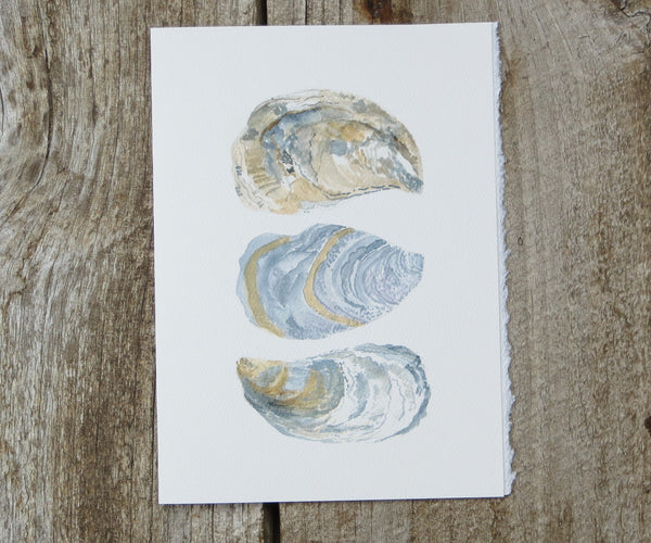 3 Oyster Shells Card