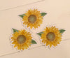 3 sunflower stickers