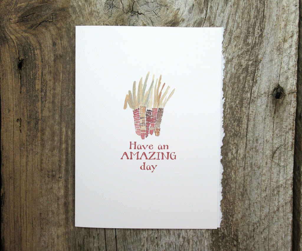 Amazing Corn Thanksgiving Card