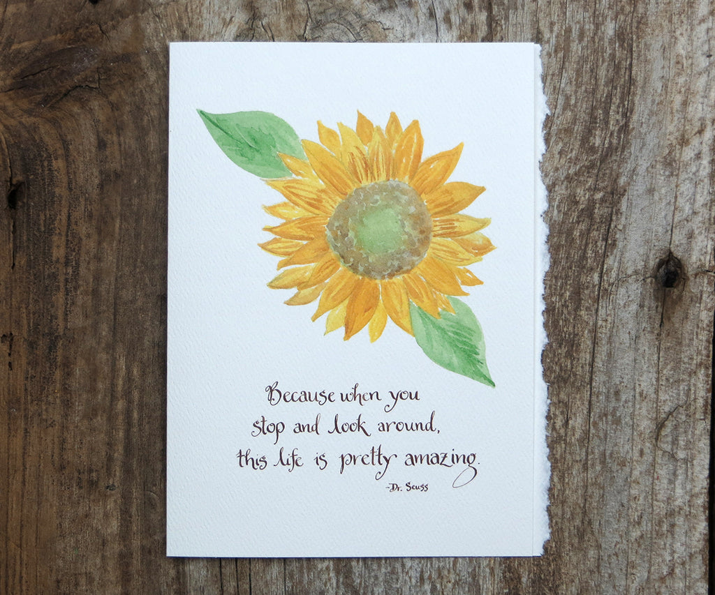 Sunflower Quotes Amazing Sunflower Quote Card – El's Cards Sunflower Quotes