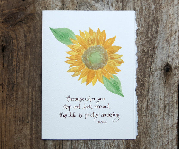 Amazing Sunflower Quote Card
