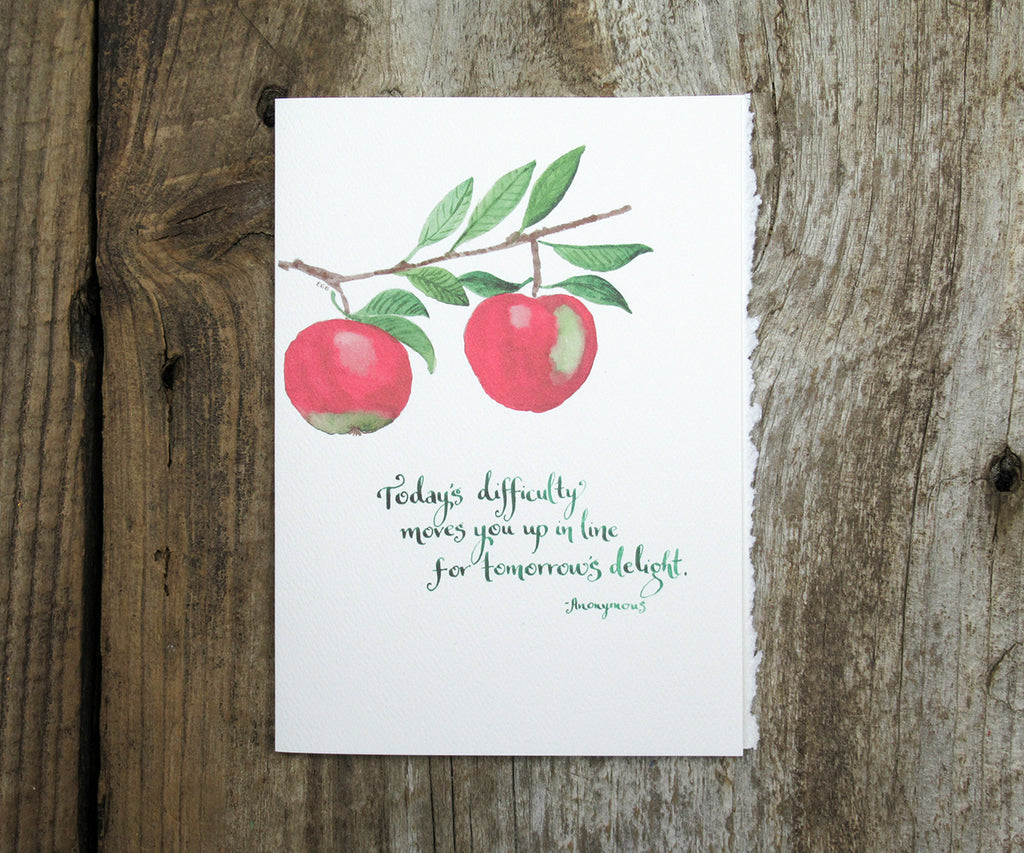 Apple Delight Quote Card