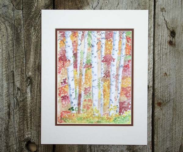 Autumn Birches Print
