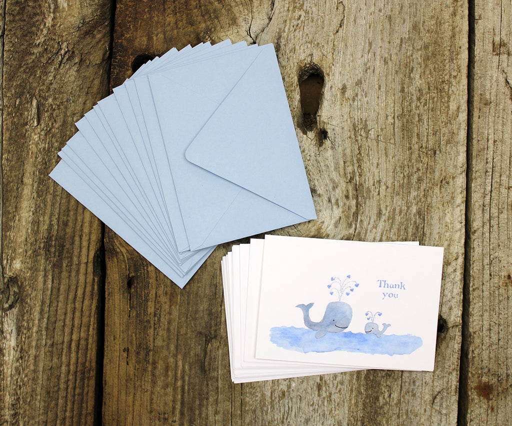 Baby Whales Thank You Notes Sale