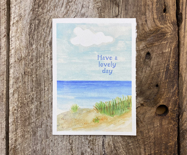 Beach walk mothers day card