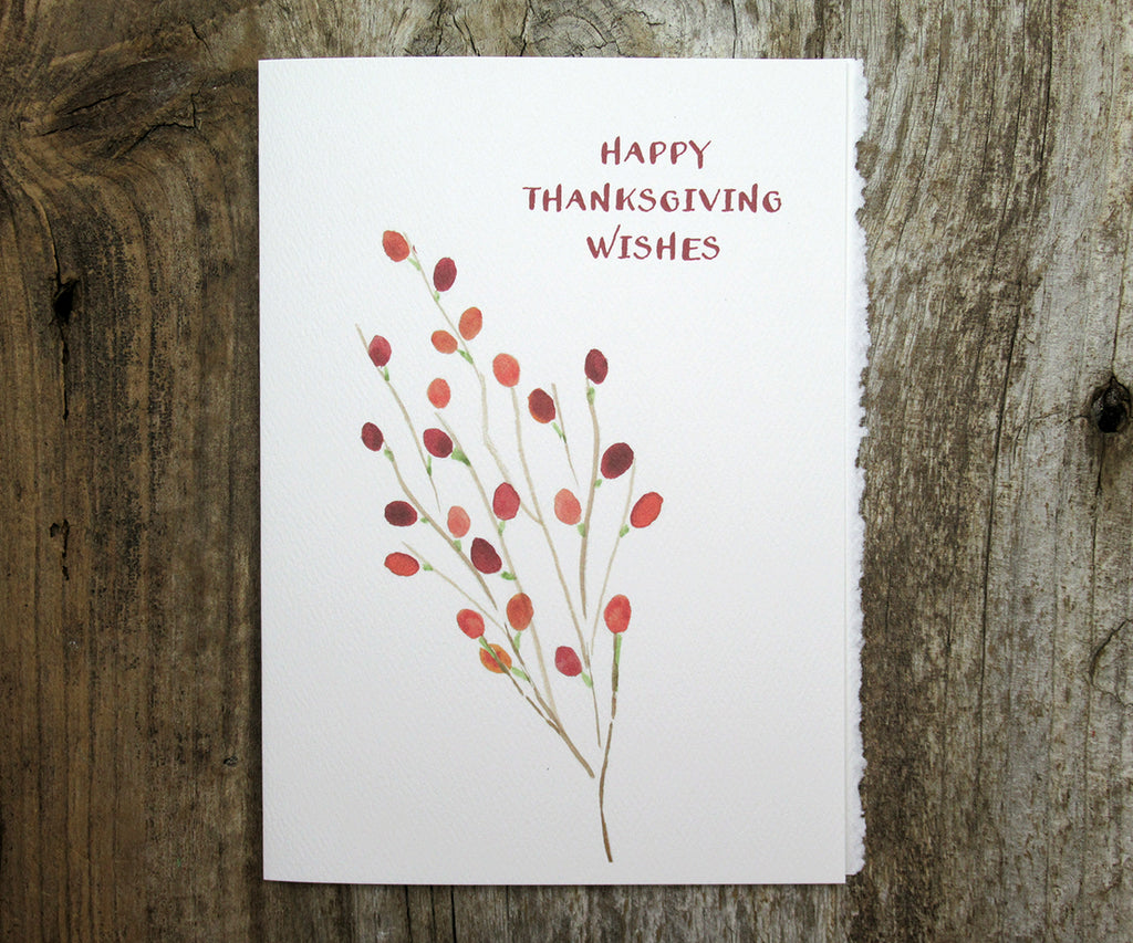 Berries Thanksgiving Card