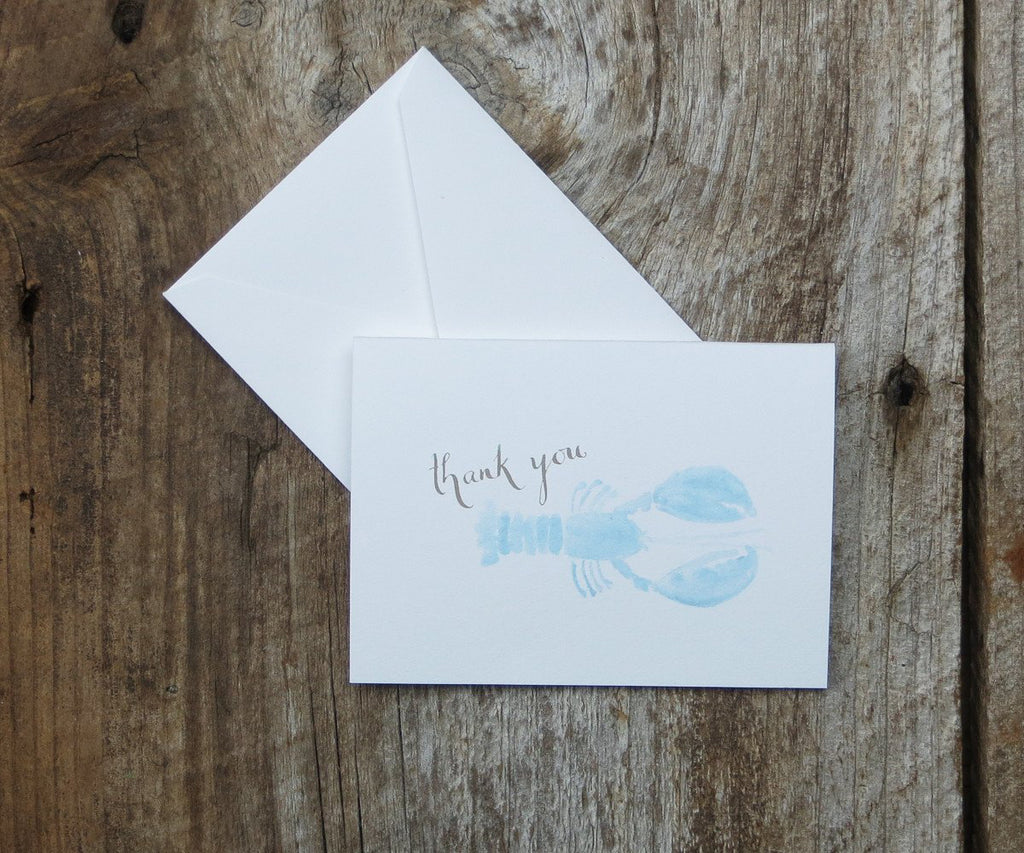 Blue lobster thank you note