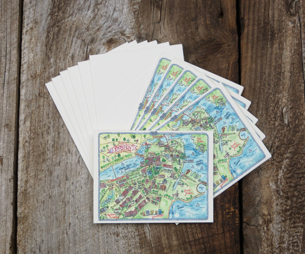 Boston map card