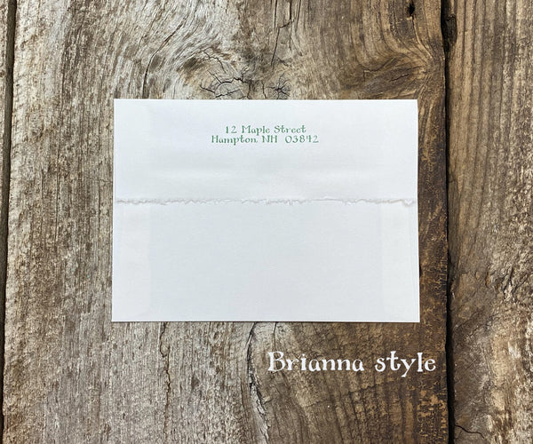 Holiday Card Return Address